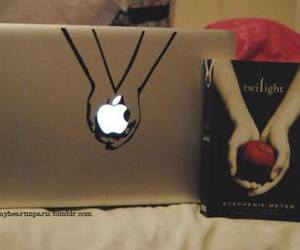 twilight, apple, and book image