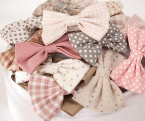 bow, cute, and pink image