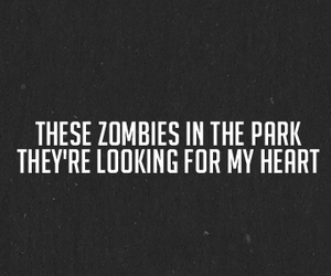 quote, zombies, and heart image