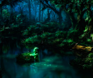 art, fantasy, and forest image