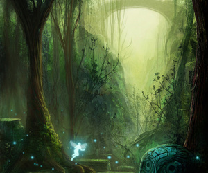 fairy, fantasy, and forest image