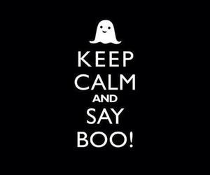 boo, Halloween, and keep calm image