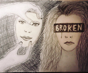 broken, not real, and drawing image