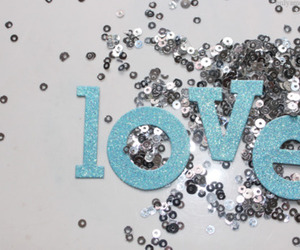 love, sequins, and sparkle image