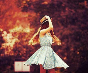 girl, dress, and hat image