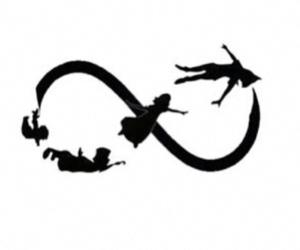 infinity, peter pan, and disney image
