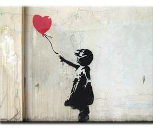art, balloons, and red balloons image