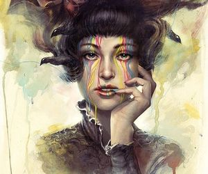 art, painting, and girl image