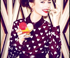 ice cream, photoshoot, and lily collins image
