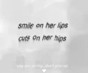 cuts, fake smile, and autolesionismo image