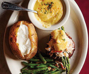 beef, hollandaise, and meat image