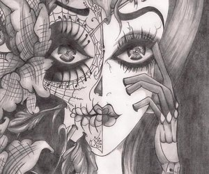 graphite and sugar skull image