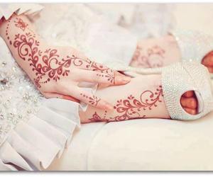 henna, white, and bride image