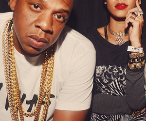 gold, jay-z, and rianna image