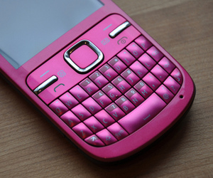pink, phone, and nokia c3 image