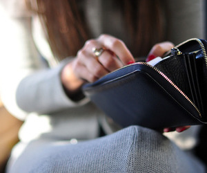 fashion, girl, and wallet image
