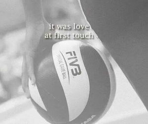 volleyball, love, and volley image