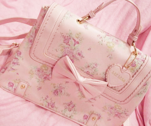 pink, bag, and purse image