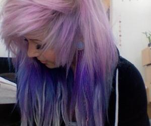 purple, hair, and scene image