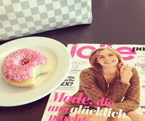 donuts, emma watson, and fashion image