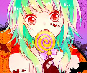 anime, Halloween, and anime girl image