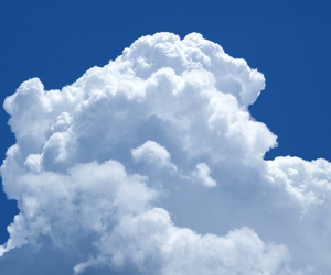 blue, summer, and clouds image