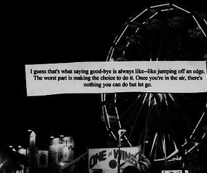 quote, black and white, and goodbye image