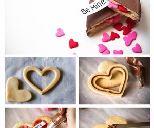 love, chocolate, and heart image