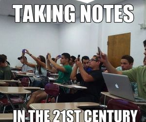 school, funny, and notes image