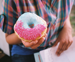 cookie, donut, and pink image