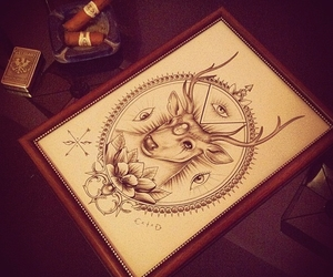 awesome, deer, and drawing image
