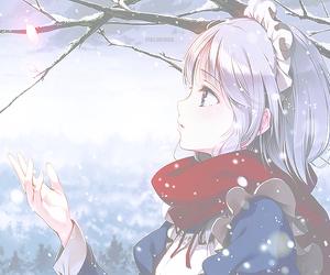 anime, snow, and anime girl image