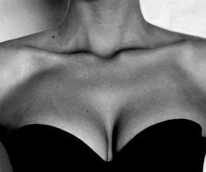blackandwhite, dress, and boobs image