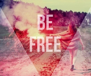 free, quote, and be free image