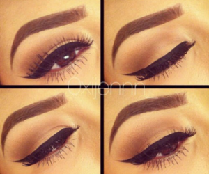eyes, makeup, and eyeliner image