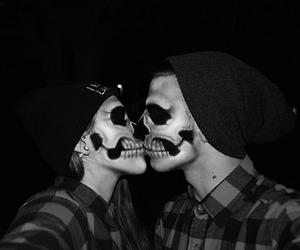 boy, girl, and skull image