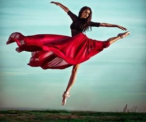 ballerina, red, and black image
