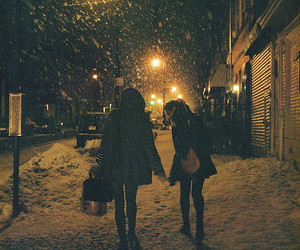 snow, winter, and night image