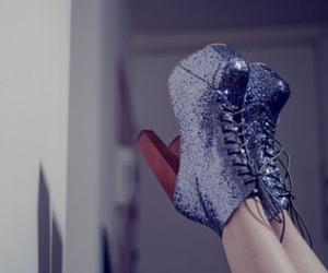 blue, boots, and sparkly image