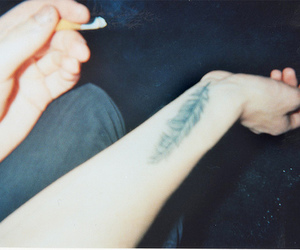 tattoo, indie, and feather image