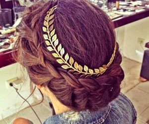 beauty, braid, and hair style image