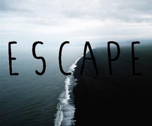 escape, ocean, and sea image