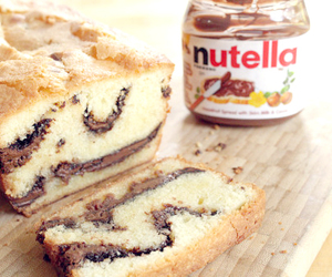 bread, nutella, and tasty image
