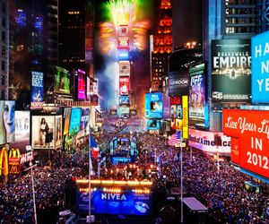 new york, times square, and nyc image