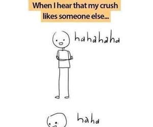crush, funny, and sad image