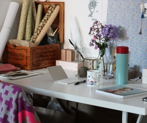 desk and workplace image