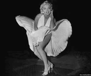 Marilyn Monroe, retro, and old hollywood image