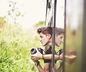 boy, camera, and Hot image