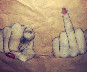finger, problem, and fuckyou image
