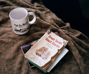 book, vintage, and cup image